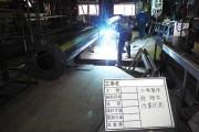溶接後、亜鉛鍍金工程に移ります。