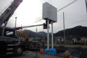 東日本大震災の被害があった地域での施工です。インフラ整備の真っ最中です。