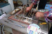 あゆの焼き台をオールステンレスで製作しました。ちょとしたサプライズアイテムですね。